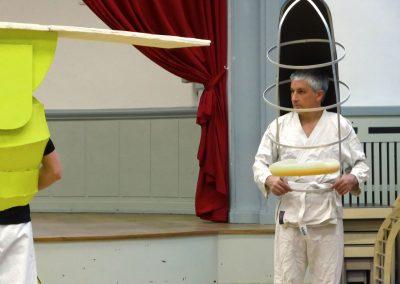 Rehearsal with Oyama's karate group, 2014. Foto: Axel Ruoff