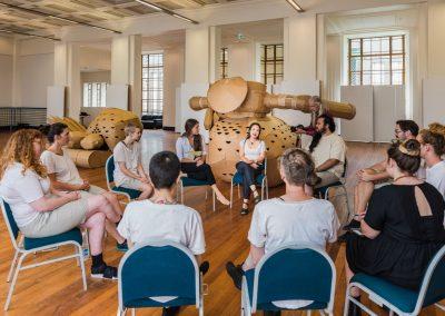 Meeting before rehearsal, 2019. Foto: Alex Efimoff