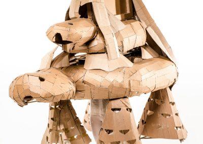 Turtles, 2018. Cardboard, bamboo, textile, 210 x 210 x 200cm. Foto: Alex Efimoff