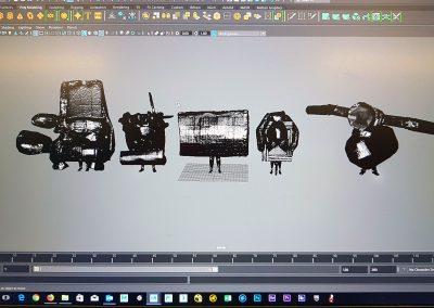3D scans, 2018. Foto: Yuka Oyama