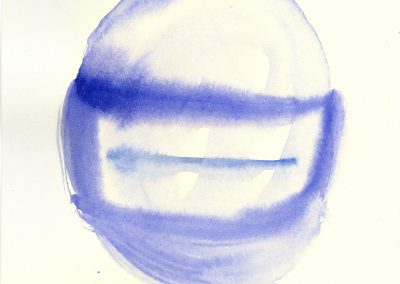 Helmet, 2014. Watercolour on paper, 21 x 29 cm