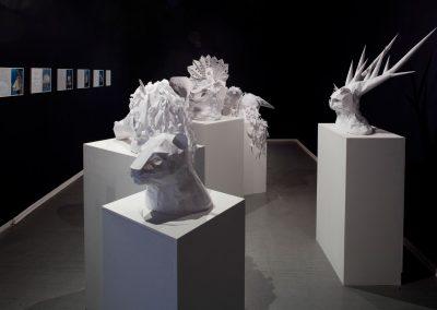 Metamorphic Spirit, exhibition view, Derridas Katze, Kunstraum Kreuzberg, Berlin, 2009. Foto: Thomas Bruns