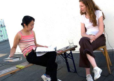 Interview process, 2008. Foto: Becky Yee